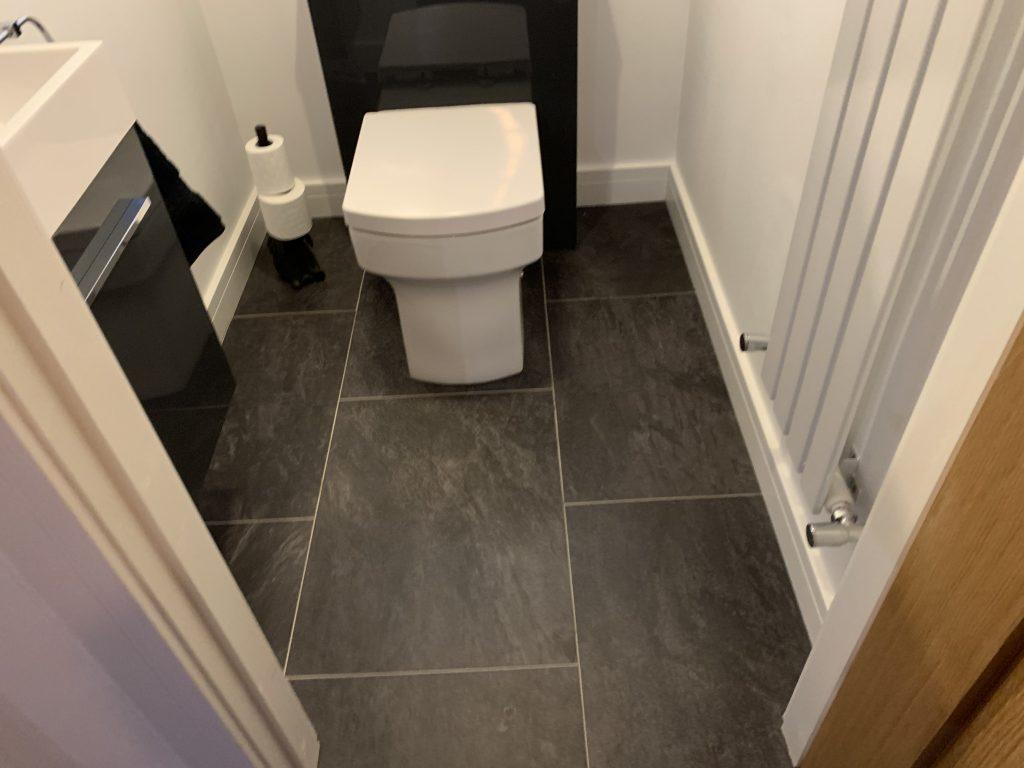luxury vinyl tile bathroom