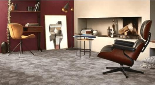 office grey designer carpet