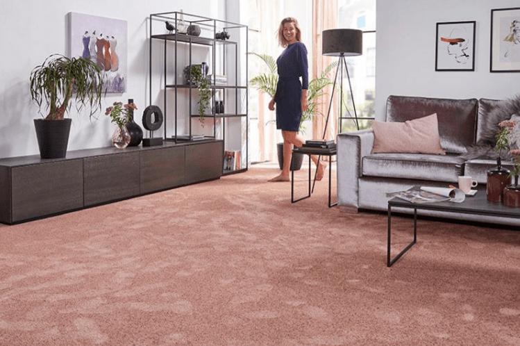 pink designer carpet